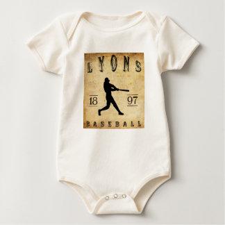 Baseball 1897 Lyons New York Baby Strampler