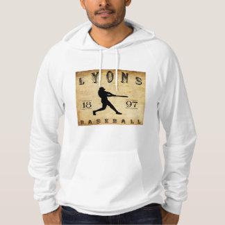Baseball 1897 Lyons New York Hoodie