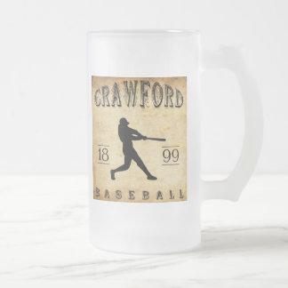 Baseball 1899 Crawfords Indiana Mattglas Bierglas