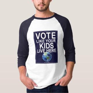 Baseball 3/4 Hülse Abstimmung wie Ihre Kinder T-Shirt