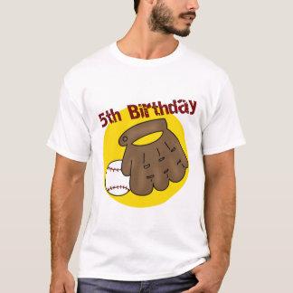 Baseball-5. Geburtstags-Geschenke T-Shirt