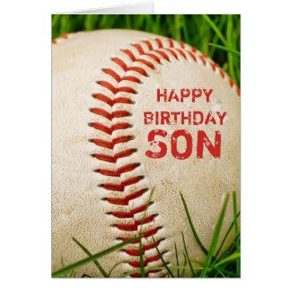 Baseball-alles- Gute zum Geburtstagsohn-Karte Karte