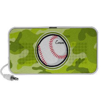 Baseball auf grüner Camouflage Tarnung iPhone Speaker