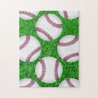 Baseball auf Rasen Puzzle