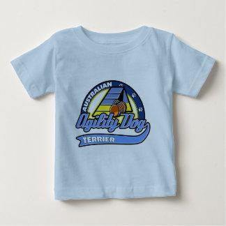 Baseball-australischer Terrier-Agility Baby T-shirt