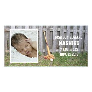 Baseball-Baby-Mitteilung Photokartenvorlage