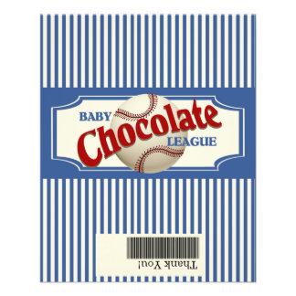 Baseball-Baby-Schokolade Flyer Druck