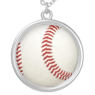 Baseball bball Fanketten-Halskettenanhänger Versilberte Kette