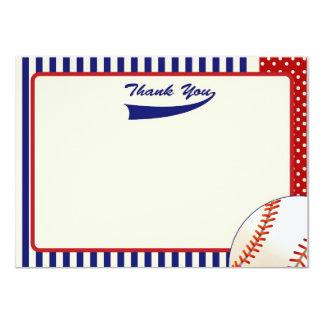 Baseball danken Ihnen Anmerkungen 11,4 X 15,9 Cm Einladungskarte