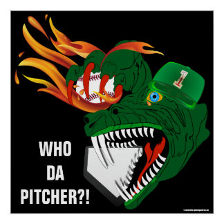 Baseball der DA-Werfer Poster