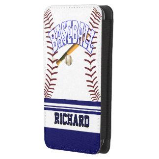 Baseball der Galaxie-S4 mit Monogramm Galaxy S4 Tasche