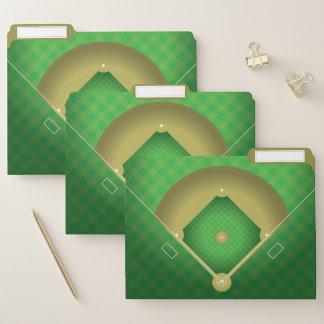 Baseball-Diamant-Entwurfs-Datei-Ordner-Set Papiermappe