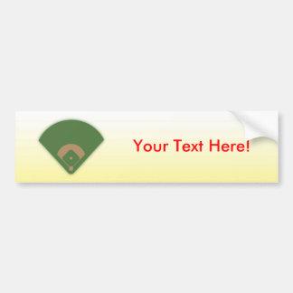 Baseball-Diamant: Kundenspezifischer Autoaufkleber