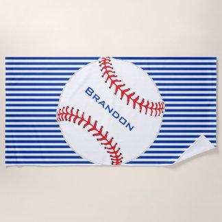 Baseball-Entwurfs-Badetuch Strandtuch