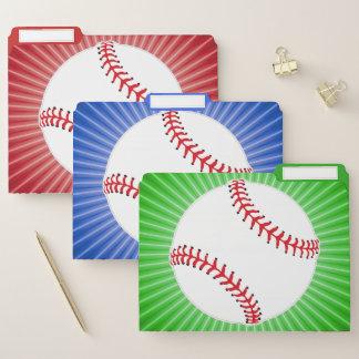 Baseball-Entwurfs-Datei-Ordner-Set Papiermappe