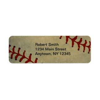 Baseball-Entwurfs-Rücksendeadressen-Aufkleber