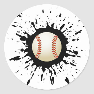 Baseball-Explosion Runder Aufkleber