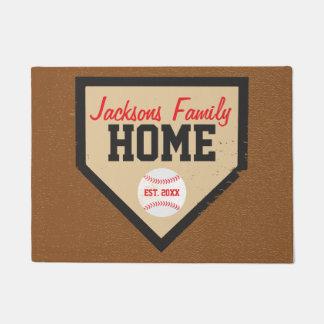 Baseball-Familien-Zuhause-Platten-Name und Jahr Türmatte