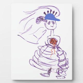 Baseball - Fan-Braut Fotoplatte
