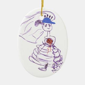 Baseball - Fan-Braut Keramik Ornament