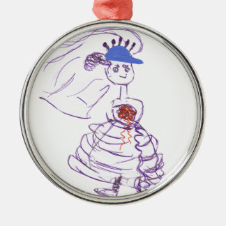 Baseball - Fan-Braut Silbernes Ornament