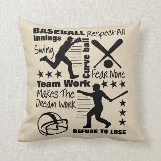 Baseball - Fan-Zitate und Grafik-sportlicher Kissen