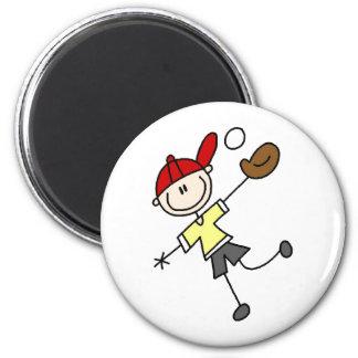 Baseball-Fang-Ball-Magnet Runder Magnet 5,7 Cm