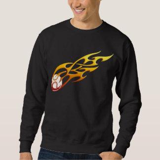 Baseball-Flamme Sweatshirt