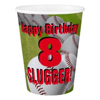 Baseball-Geburtstag - kundenspezifische Pappbecher