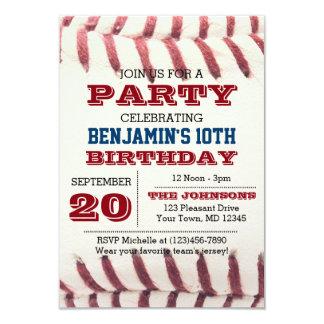 Baseball-Geburtstags-Einladung 8,9 X 12,7 Cm Einladungskarte
