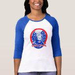 Baseball-Hülsen-Shirt Yas Königin-Hillary Clinton T-shirt
