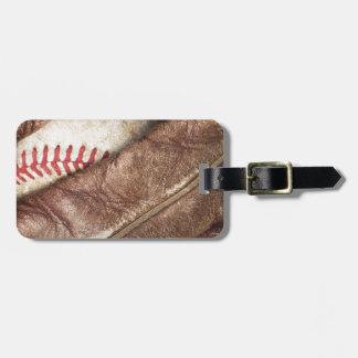 Baseball im Handschuh Kofferanhänger