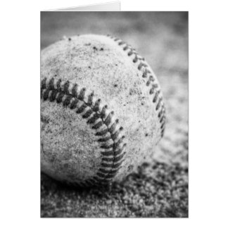 Baseball in Schwarzweiss Grußkarte