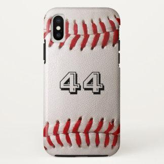 Baseball iPhone X Fall mit kundengerechter Zahl iPhone X Hülle