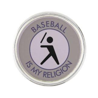 BASEBALL IST MEINE RELIGION ANSTECKNADEL