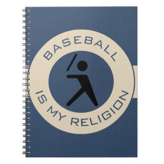 BASEBALL IST MEINE RELIGION NOTIZBLOCK