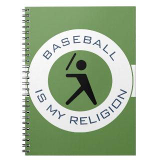 BASEBALL IST MEINE RELIGION SPIRAL NOTIZBLOCK