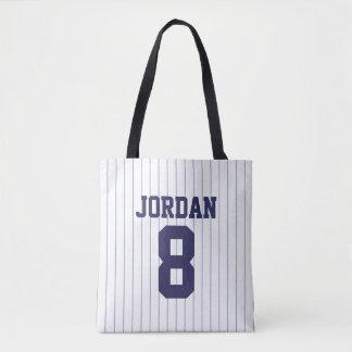 Baseball Jersey mit individuellem Namen und Zahl Tasche