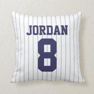 Baseball Jersey mit Zahl Kissen