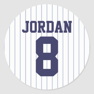 Baseball Jersey - Sport-Thema-Geburtstags-Party Runder Aufkleber