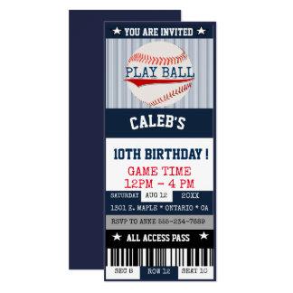 Baseball-Karten-Einladung Karte