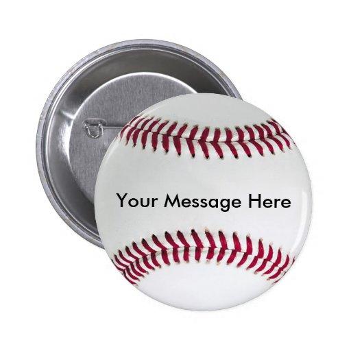 Baseball-Knopf mit Ihrer Mitteilung Anstecknadelbutton