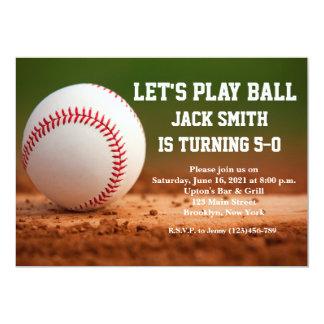 Baseball-kundenspezifische 12,7 X 17,8 Cm Einladungskarte