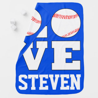 Baseball-Liebe-Name-/Text-/Farbneugeborenes Baby Puckdecke