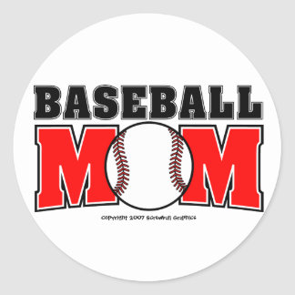 Baseball-Mamma-Aufkleber Runder Aufkleber