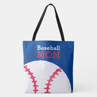 Baseball-Mamma-Retro personalisiertes Trendy Blau Tasche