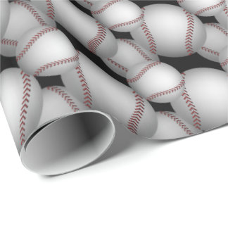 Baseball-Muster Geschenkpapier