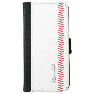 Baseball-nähender Sport - themenorientiert mit Geldbeutel Hülle Für Das iPhone 6/6s