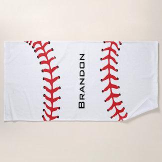 Baseball-nähendes Entwurfs-Badetuch Strandtuch
