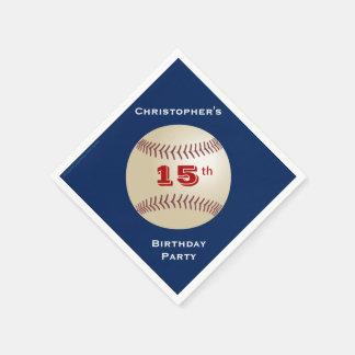 Baseball-Papierservietten, 15. Geburtstags-Party Papierserviette